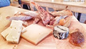 Travelling Foodie eats Cheese Plate at Le Baratin, Toronto