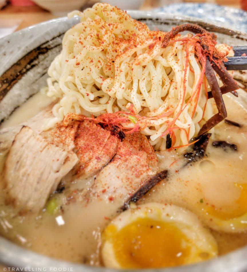 Travelling Foodie eats Toroniku Ramen at Moji Japanese Eatery in Markham