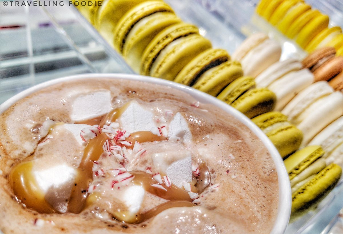 Hot Chocolate and Macaron from MoRoCo Chocolat Tasting - Travelling Foodie
