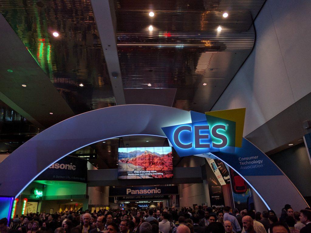 Consumer Electronics Show (CES) Sign at Las Vegas Convention Center in Las Vegas, Nevada