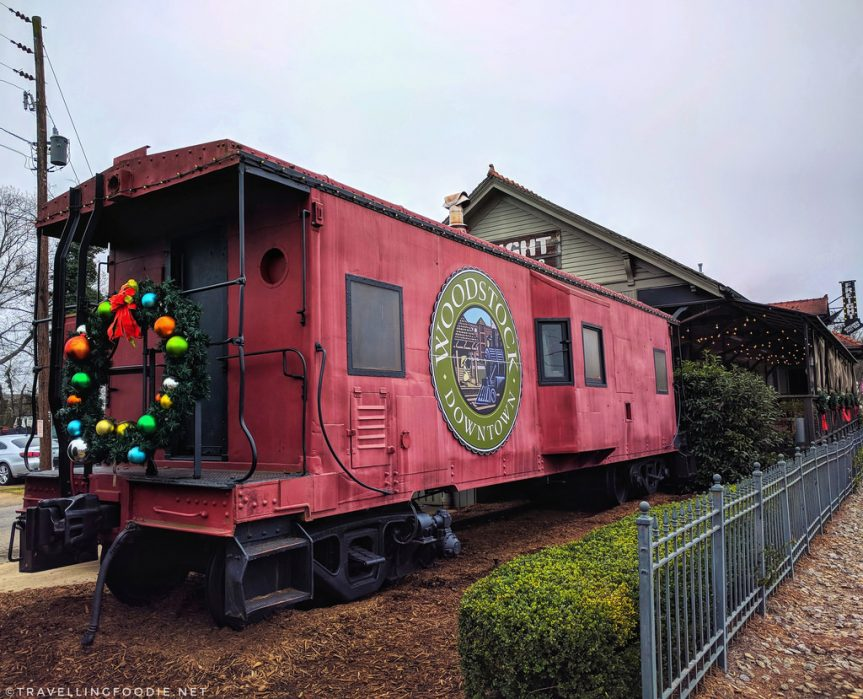 Caboose in Downtown Woodstock, Georgia