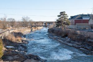 Ganaraska River in Port Hope, Ontario