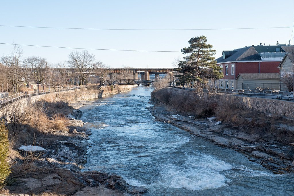 Ganaraska River in Port Hope, Ontario