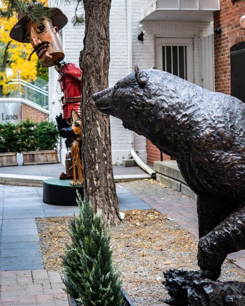 Bear Sculpture at Bloor-Yorkville in Toronto, Ontario