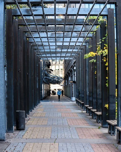 Pergola at Village of Yorkville Park in Toronto, Ontario
