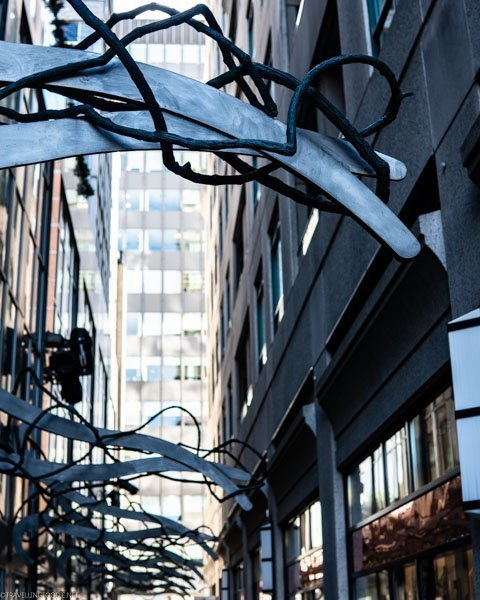 Alley Sculptures at Yorkville in Toronto, Ontario