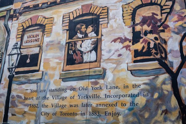 Old York Lane painting at Yorkville in Toronto, Ontario