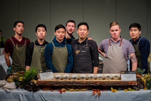 Chef Jeff Kang and Canis Restaurant Team at Canada's Great Kitchen Party in Toronto, Ontario