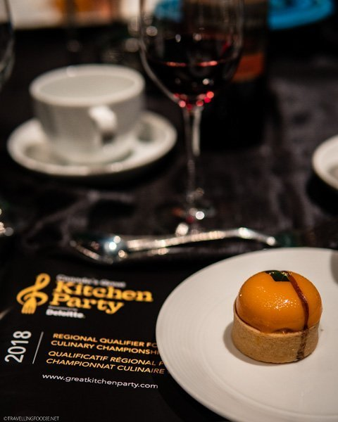 Various desserts and Canadian wines at the Gala Celebration of Canada's Great Kitchen Party in Toronto, Ontario