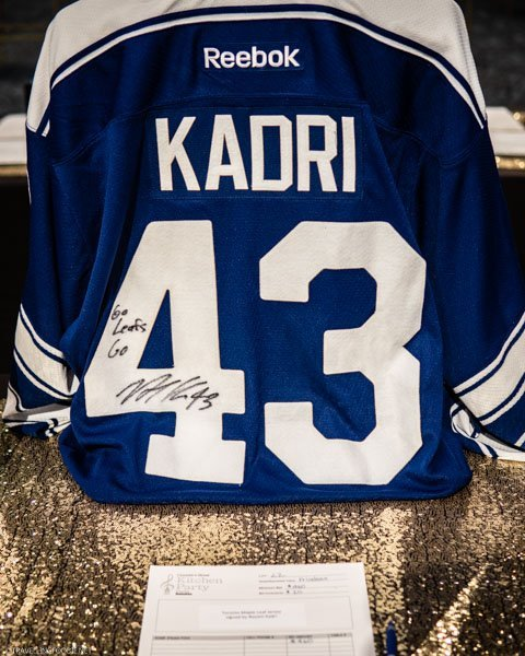Kadri's Toronto Maple Leafs' Jersey for Silent Auction at Canada's Great Kitchen Party in Toronto, Ontario
