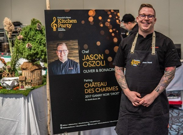 Chef Jason Oszoli at Canada's Great Kitchen Party in Toronto, Ontario