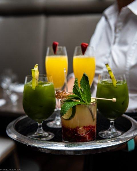 Mimosa, Mojito and Kale Juice at Sassafraz Restaurant - Toronto, Ontario