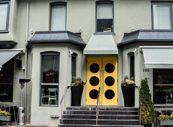 Exterior of Sassafraz Restaurant - Toronto, Ontario