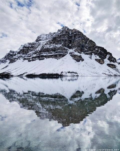 Epic Crowfoot Mountain Reflection at Bow Lake in Banff National Park, Alberta, Canada