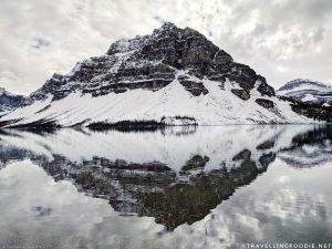 Crowfoot Mountain Reflections at Bow Lake in Banff National Park, Alberta, Canada