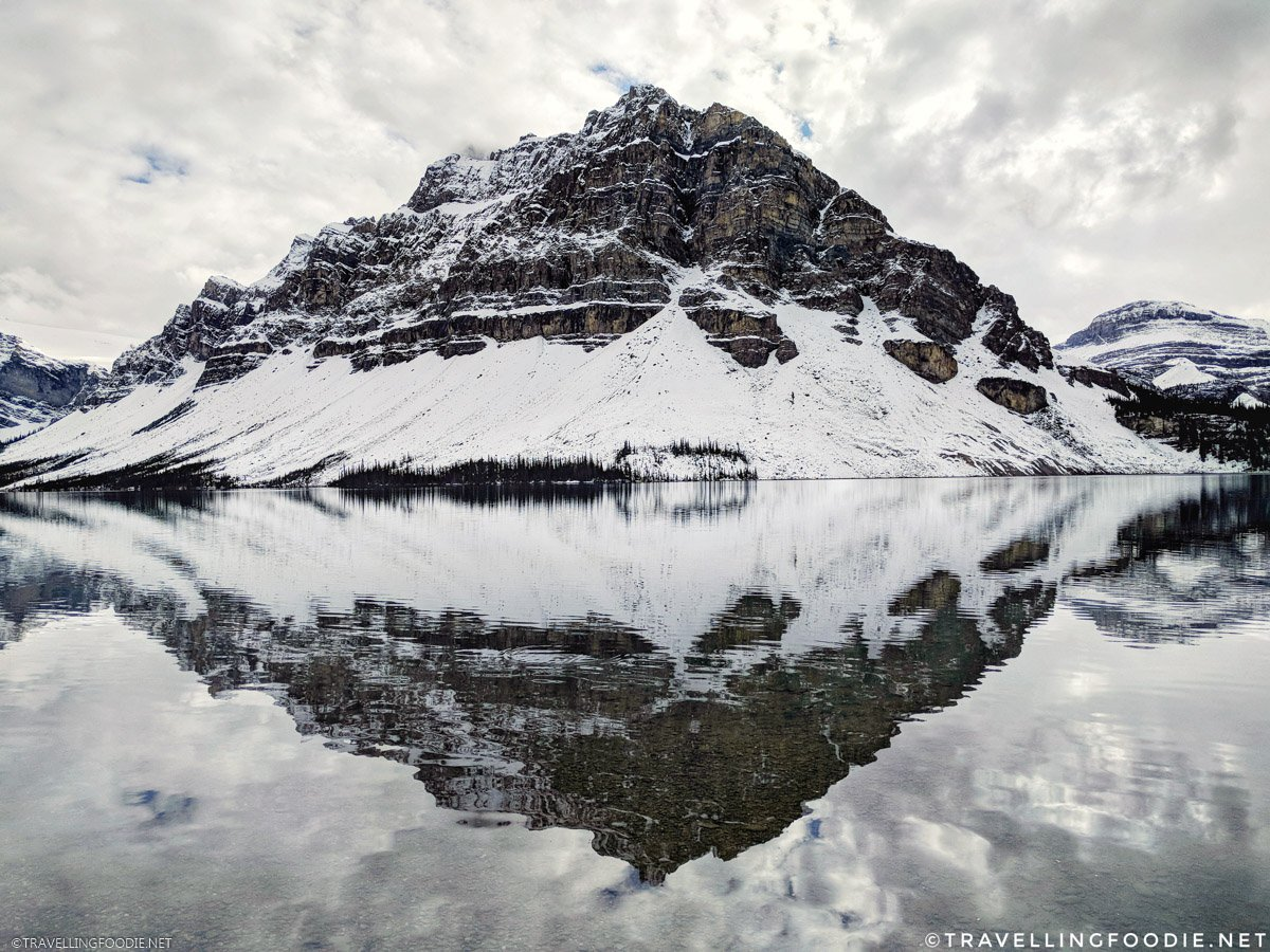 Crowfoot Mountain Reflections at Bow Lake in Banff National Park, Alberta, Canada