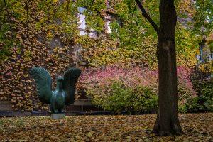 Sculpture in Ryerson University's Kerr Hall Quad in Toronto, Ontario