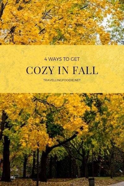 Check out 4 Great Ways To Get Cozy in Fall, the season when the colours change and the days get shorter!
