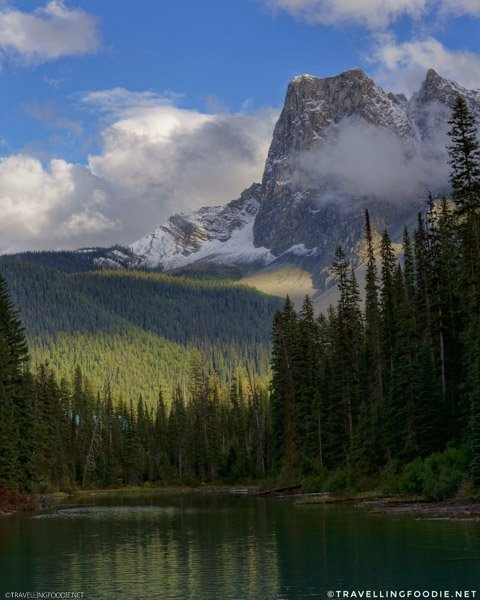 Emerald Lake with Mount Burgess at Yoho National Park, British Columbia, Canada