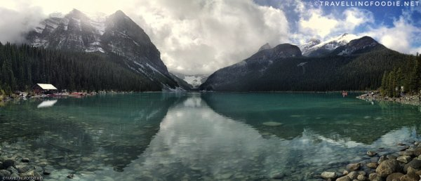 Panoramic View of Lake Louise at Banff National Park, Alberta's Canadian Rockies