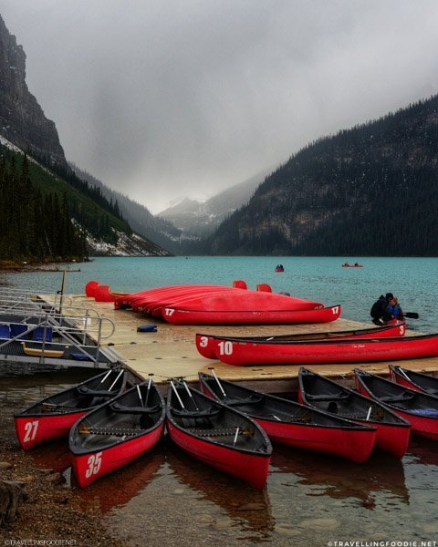 Canoe Rental at Lake Louise in Banff National Park, Alberta, Canada