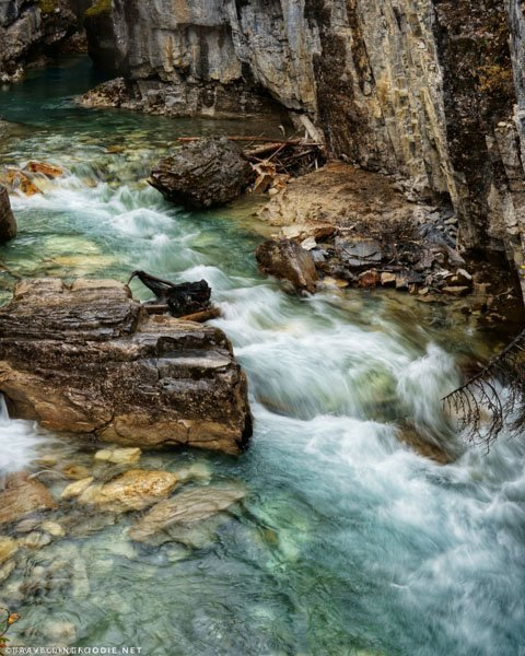 Tokumm Creek at Marble Canyon in Kootenay National Park, British Columbia in the Canadian Rockies