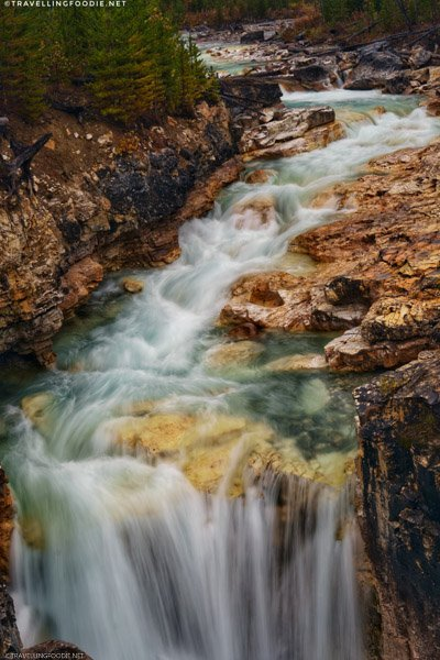 Tokumm Creek Waterfalls at Marble Canyon in Kootenay National Park, British Columbia, Canada