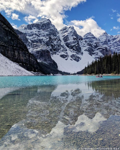 (Vertical) Moraine Lake at Banff National Park, Alberta, Canada