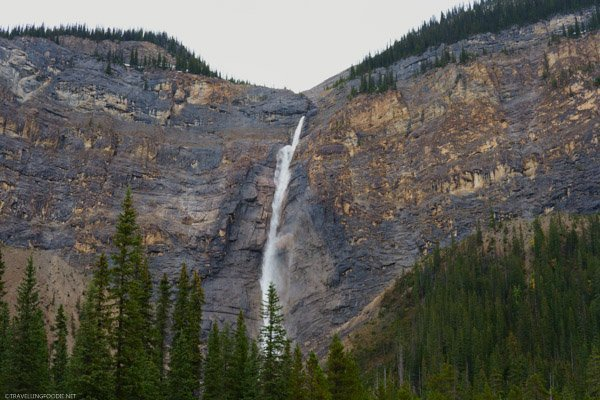 Horizontal View of Takakkaw Falls in Yoho National Park, British Columbia, Canada