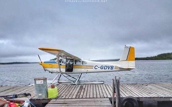 Side view of the float plane