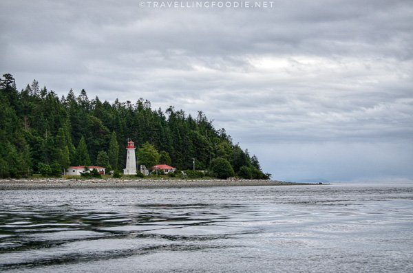 Cape Mudge Lighthouse at Quadra Island in Comox Valley, British Columbia