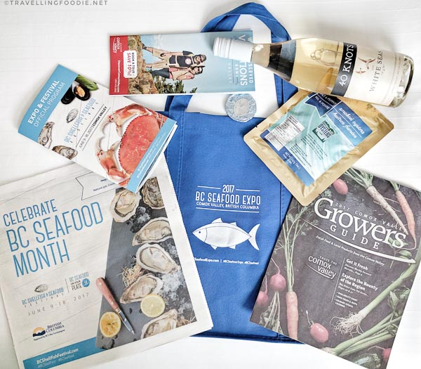 BC Shellfish and Seafood Festival 2017 Gift Bag
