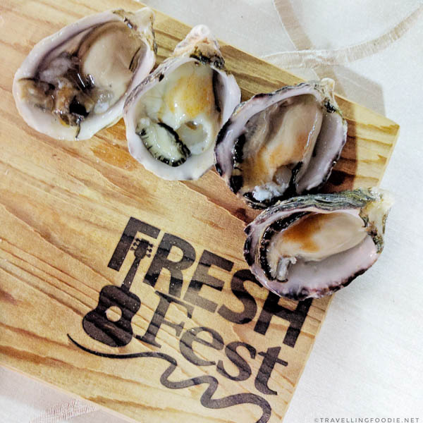 Kuushi Oysters from Stellar Oysters at Fresh Fest for BC Shellfish and Seafood Festival 2017 in Comox Valley, British Columbia