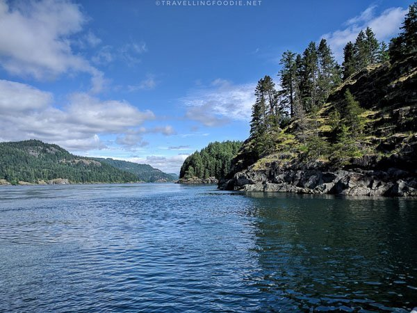 Seymour Narrows in Comox Valley, British Columbia