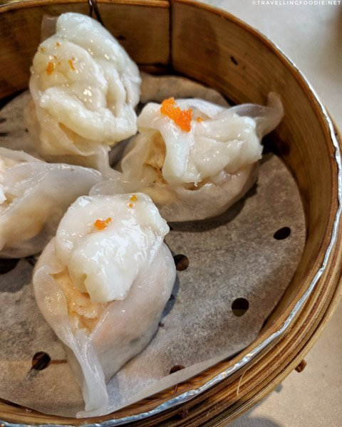 Steamed Shrimp and Scallop Dumpling at Bill's Peking House in Calgary, Alberta