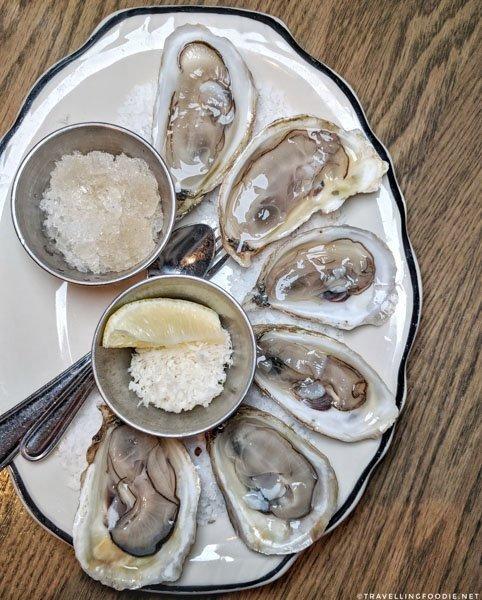 Oysters at Bridgette Bar in Calgary, Alberta