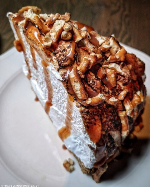 Banana Fosters Cream Pie at Bridgette Bar in Calgary, Alberta
