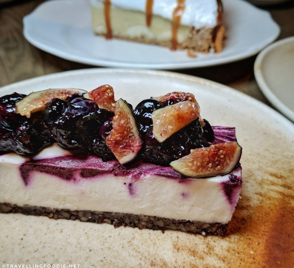 Vegan Cheesecake at Bridgette Bar in Calgary, Alberta
