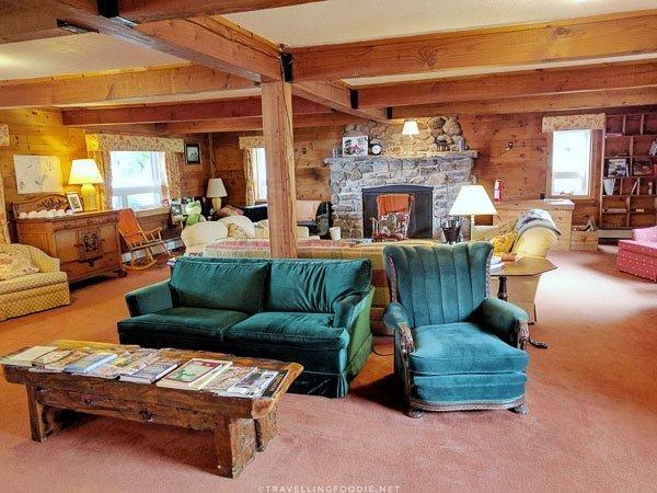 Main Lodge Living Room at Cabins at the Domain in Haliburton, Ontario