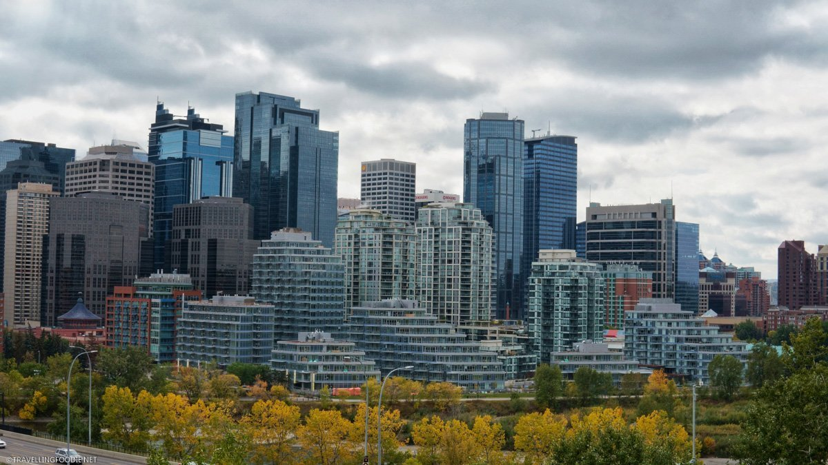 Calgary Skyline at Mt. Pleasant View Point in Calgary, Alberta