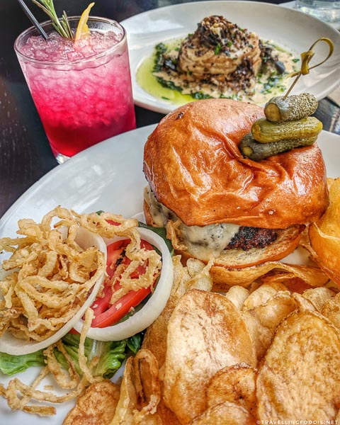 Burger, Escargot and Cocktail at Candy Apple Cafe in Jacksonville, Florida