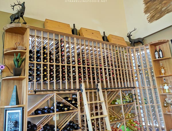 Wine Cellar at Cedar Meadows in Timmins, Ontario