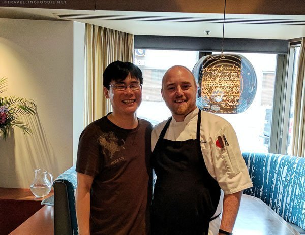 Chef Jamie Corlett and Travelling Foodie Raymond Cua of Gio Restaurant in Halifax, Nova Scotia