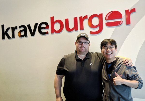 Chef Matt Macisaac at Krave Burger in Halifax, Nova Scotia