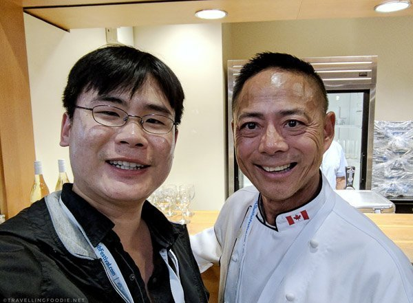 Raymond and Chef Nathan Fong at BC Seafood Expo 2017 in Comox Valley, British Columbia