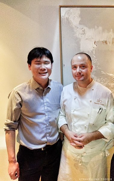 Chef Patrick Kriss and Travelling Foodie Raymond Cua at Alo in Toronto
