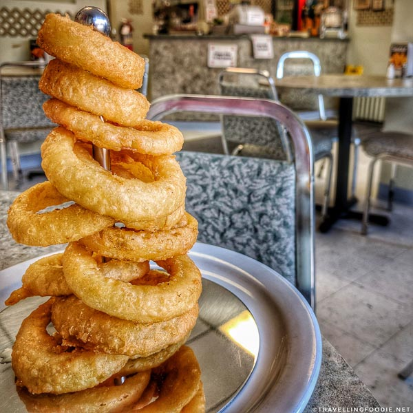 Onion Rings at Don's Pizzeria in Timmins, Ontario