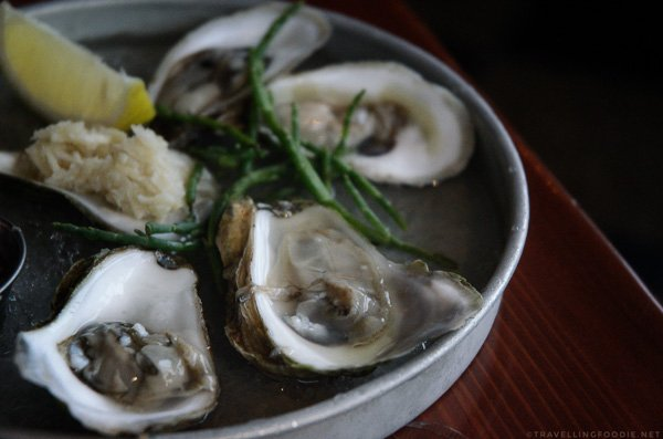 Raw Oysters from Edna in Halifax