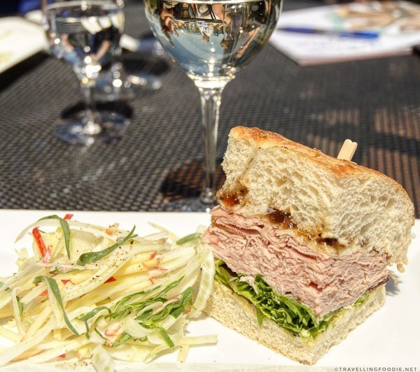 Ham Sandwich by Chef Stephane Levac of Frais Catering in Planters Ridge Winery, Nova Scotia