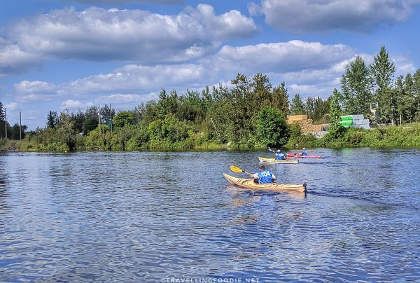 Tight Race - Great Canadian Kayak Challenge & Festival - Timmins, Ontario